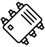 Computer chip, electronic circuit Isolated Vector Icon That can be easily edited in any size or modified. Computer chip, electro. Computer chip, electronic stock illustration