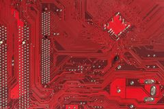 Computer chip Electronics motherboard high tech. Circuit board texture and background. Royalty Free Stock Image