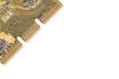 Computer chip isolated Royalty Free Stock Photos