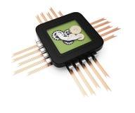 Computer-Chip mit Gängen Lizenzfreie Stockbilder