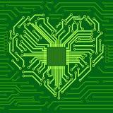 Computer-Chip mit Herzsymbol vektor abbildung
