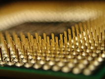 Computer Chip Pins Fotografie Stock