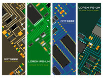 Computer chip technology processor circuit motherboard information system vector illustration. Computer chip technology processor circuit and motherboard royalty free illustration