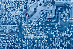 Computer chip top view Stock Images