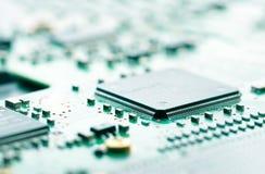 Computer-Chip- und Leiterplatte Lizenzfreies Stockbild