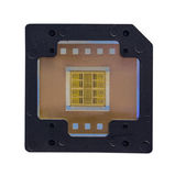 The computer chip on white background,isolated Royalty Free Stock Photography