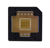 The computer chip on white background,isolated Stock Images