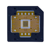 The computer chip on white background,isolated Stock Photos
