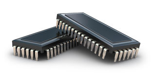 Computer chips Stock Images