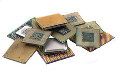 computer chips texture Royalty Free Stock Photo