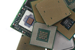 computer chips texture Stock Photography