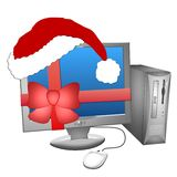 Computer Christmas present Stock Photo