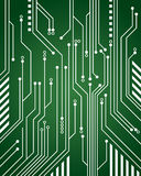 Computer Circuit Background. A green computer circuit background close-up Royalty Free Stock Photos