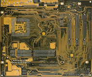 Computer circuit board. Rear view of computer circuit board close-up Stock Images