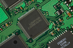 Computer Circuit Board. Close-up of Computer Circuit Board Stock Photo
