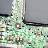 Computer circuit board. Close-up on computer circuit board Royalty Free Stock Image