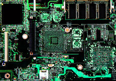 Computer circuit board. Computer circuitry circuit board background Royalty Free Stock Photo