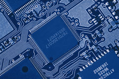 Computer Circuit Board. Close-up of Computer Circuit Board Royalty Free Stock Images