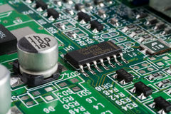 Computer circuit board Royalty Free Stock Photography