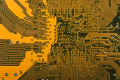 Computer circuit board. Close up. Abstract background Stock Photos