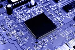 Computer Circuit Board. Close up of Computer Circuit Board Royalty Free Stock Photo