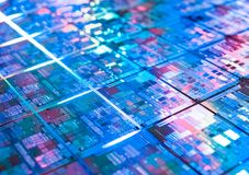Computer circuit board background microchip texture Stock Image