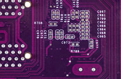 Computer circuit board in blue Royalty Free Stock Images
