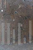Computer circuit board brown pattern. Royalty Free Stock Photography