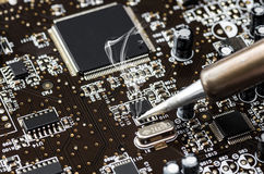 Computer circuit Stock Photos