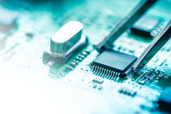 Computer Circuit Board. Close up of computer circuit board Royalty Free Stock Image