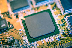 Computer Circuit Board. Close up of computer circuit board Stock Images