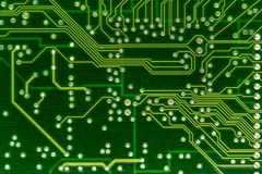 Computer circuit board. A close up of an old computer circuit board Stock Images