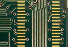 Computer Circuit Board. A close-up view of a RAM circuit board for a computer Stock Photo