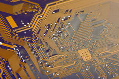 Computer Circuit Board Close Up Stock Images