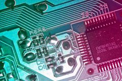 Computer circuit board closeup Stock Image