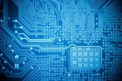 Computer circuit board closeup Royalty Free Stock Photos
