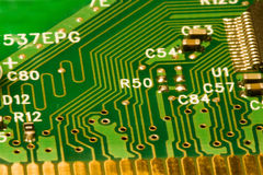 Computer circuit board details background Royalty Free Stock Photography