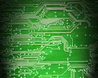 Computer circuit board in green Royalty Free Stock Images
