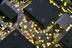 HIGH TECH ELECTRONIC CIRCUITBOARD BINARY TECHNOLOGY INDUSTRY BOARD Stock Photography