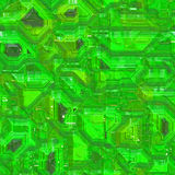Computer Circuit Board Pattern. Seamless computer circuity pattern in a lime green hue Stock Image