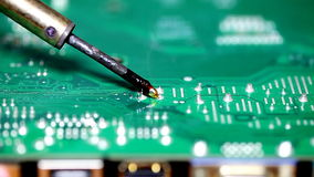 Computer circuit board stock footage
