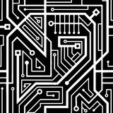Computer circuit board seamless pattern Stock Image