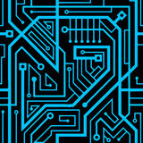 Computer circuit board seamless pattern Stock Images