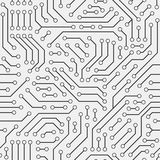 Computer circuit board. Seamless pattern. Stock Image