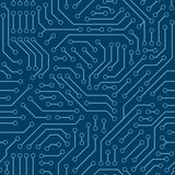 Computer circuit board. Seamless pattern. Stock Images