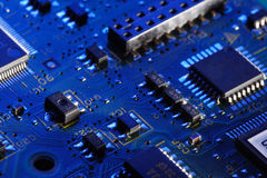 Computer circuit card Stock Image