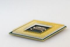 Computer circuit chip Royalty Free Stock Images