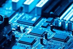 Computer circuit close-up Stock Photo
