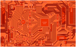 Computer circuit mainboard background Stock Photo