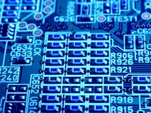 Computer circuit motherboard Royalty Free Stock Photos